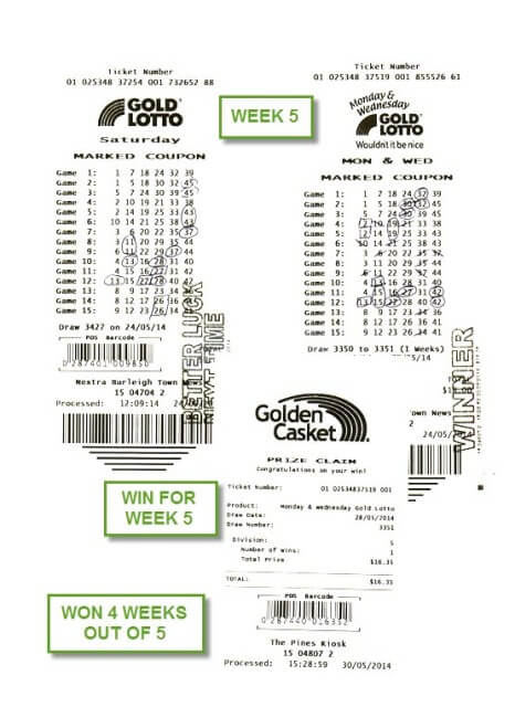 Gold Lotto Ticket Week 5