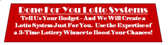 Done For You Lotto Numbers Service