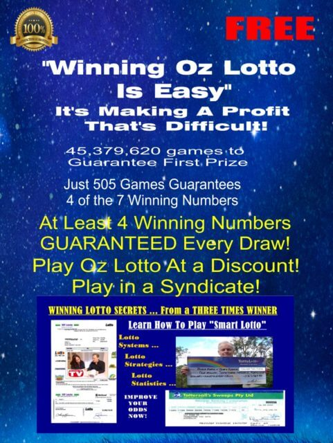 Winning Oz Lotto is Easy – It's Making a Profit That's