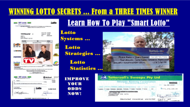 Must Win Lotto Systems From a 3-Time Lotto Winner